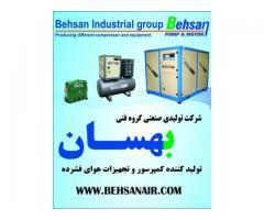 تولید انواع کمپرسور و تجهیزات هوای فشرده